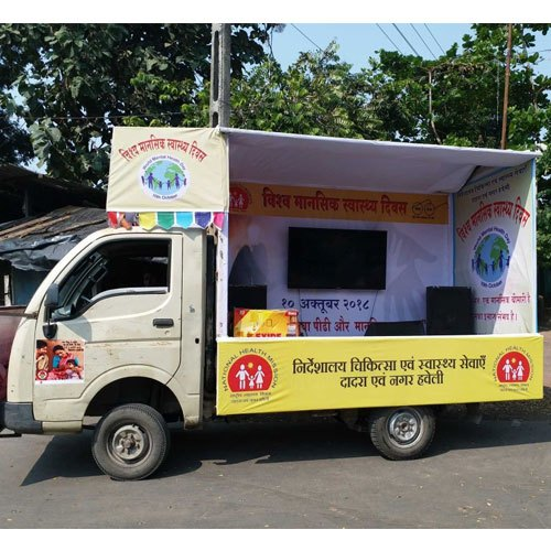 Mobile Van Advertising in Raipur, Best Mobile Van Advertising Company for Branding, TATA Ace advertising company