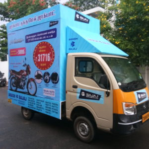 Tempo Advertising in Saharanpur, Tempo Advertisings Rates in Saharanpur, Canter Advertising