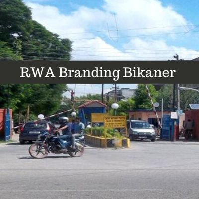 RWA Advertising Cost in Ansal Asirvaad Home Apartments  Bikaner, Apartment Gate Advertising Company in Bikaner