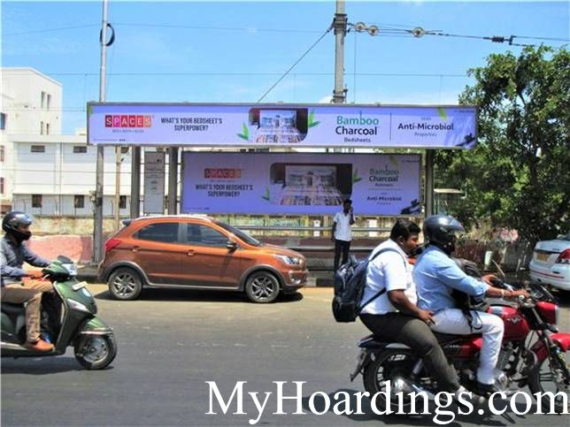 Book Bus Shelter Advertising Online in Chennai, Hoardings Company Chennai, Flex Banner TN