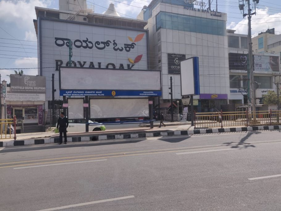 OOH Advertising Bangalore, Bus Shelter Hoardings Agency at Kadubeesanahalli Bus Stop in Bangalore