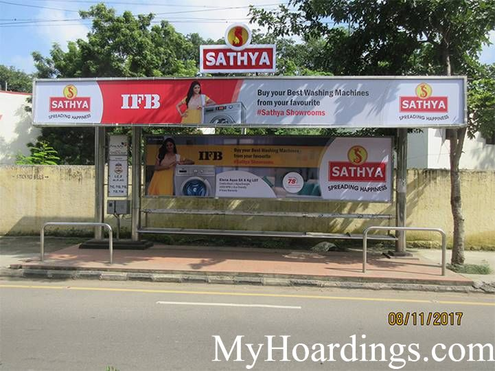 Hoardings rates in Chennai, Bus Shelters at Konnur, ICF West Colony Bus stop in Chennai, Flex Banner TN