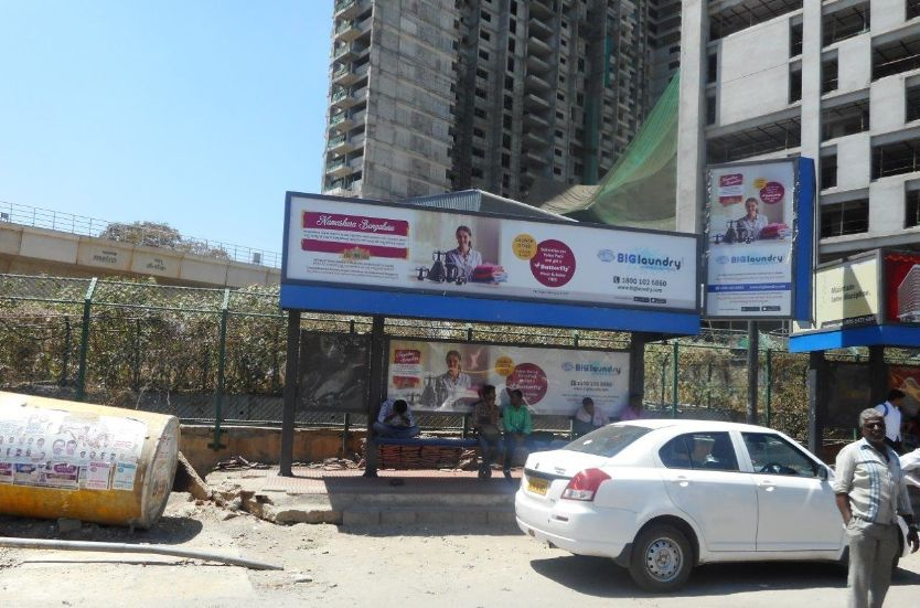 OOH Advertising Bangalore, Bus Shelter Hoardings Agency at Sheshadripuram Bus Stop in Bangalore