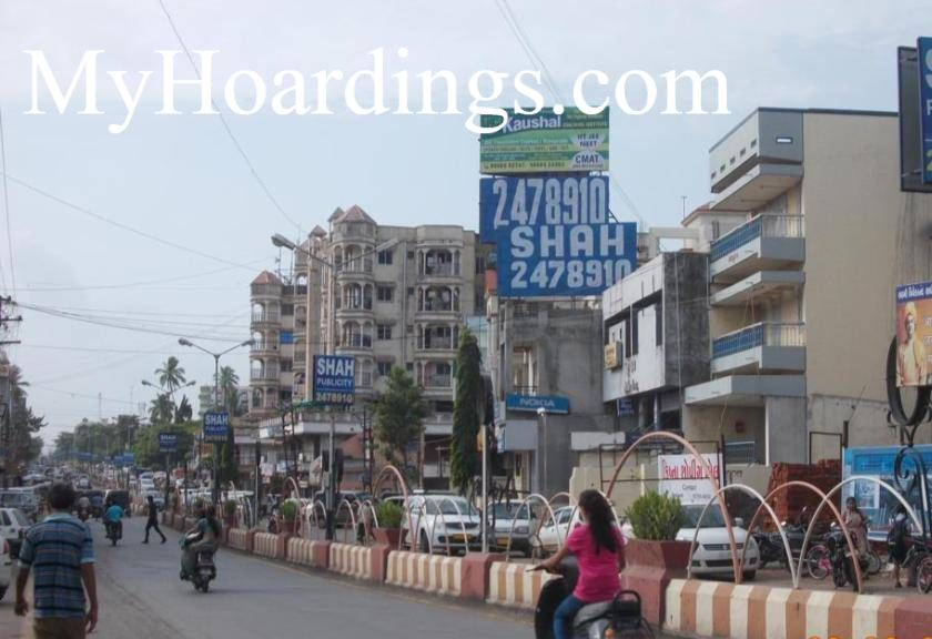 Unipole Agency at Bardoli Jalaram Mandir, Outdoor Media Agency Bardoli,Hoarding agency in Gujarat