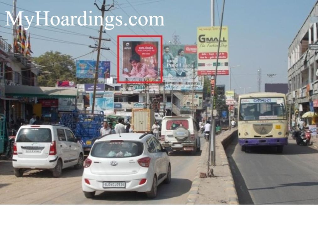 OOH Hoardings Agency in India, Highway Billboard advertising in Bazzar Road in Palanpur, Unipole Agency in Palanpur