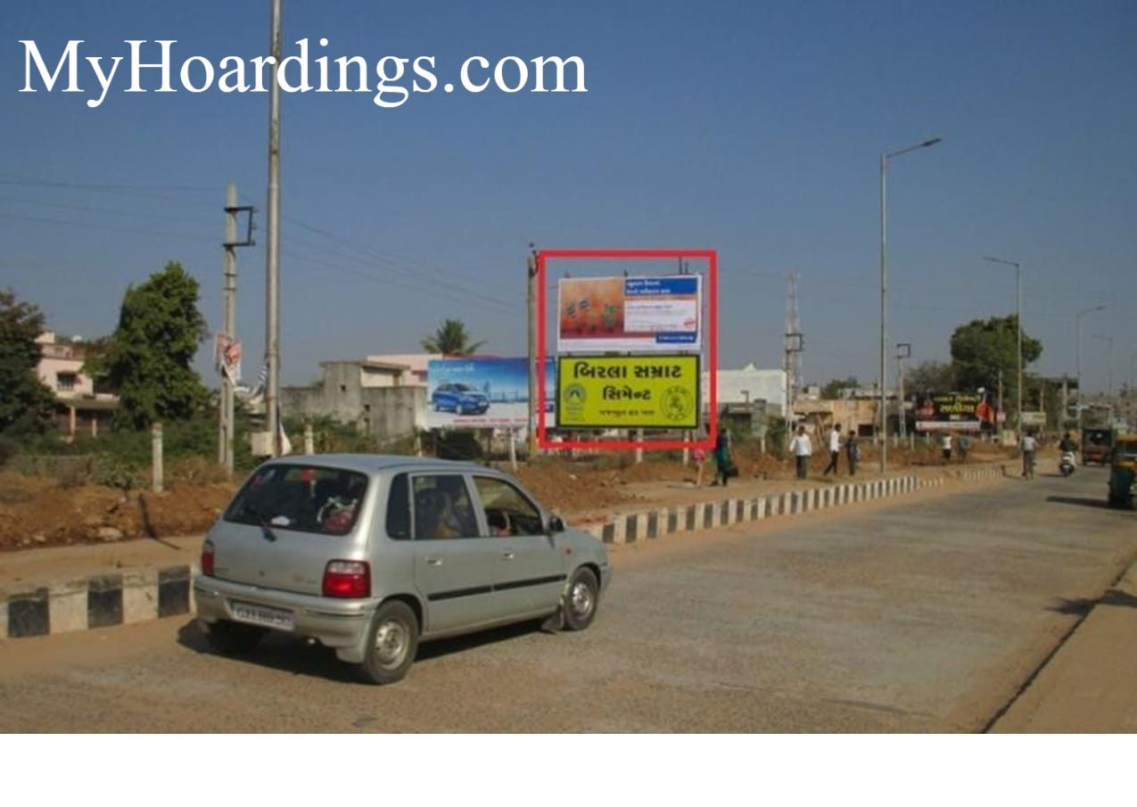 Best OOH Ad agency in Vijapur, Unipole Company at Station Road in Vijapur,Outdoor Advertising rights in Gujarat