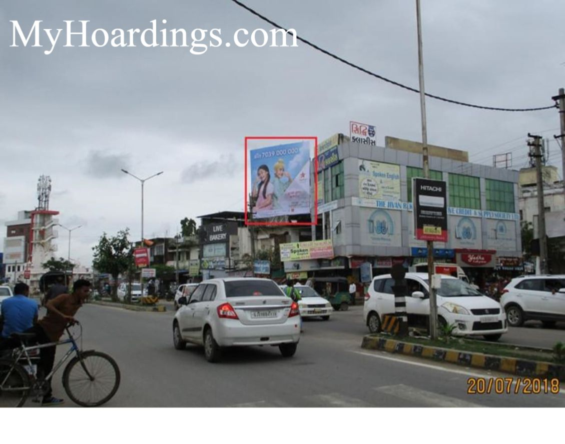 Unipole Advertising in Gaytri Mandir Road in Himmatnagar, Billboard Company in Himmatnagar, Flex Banner