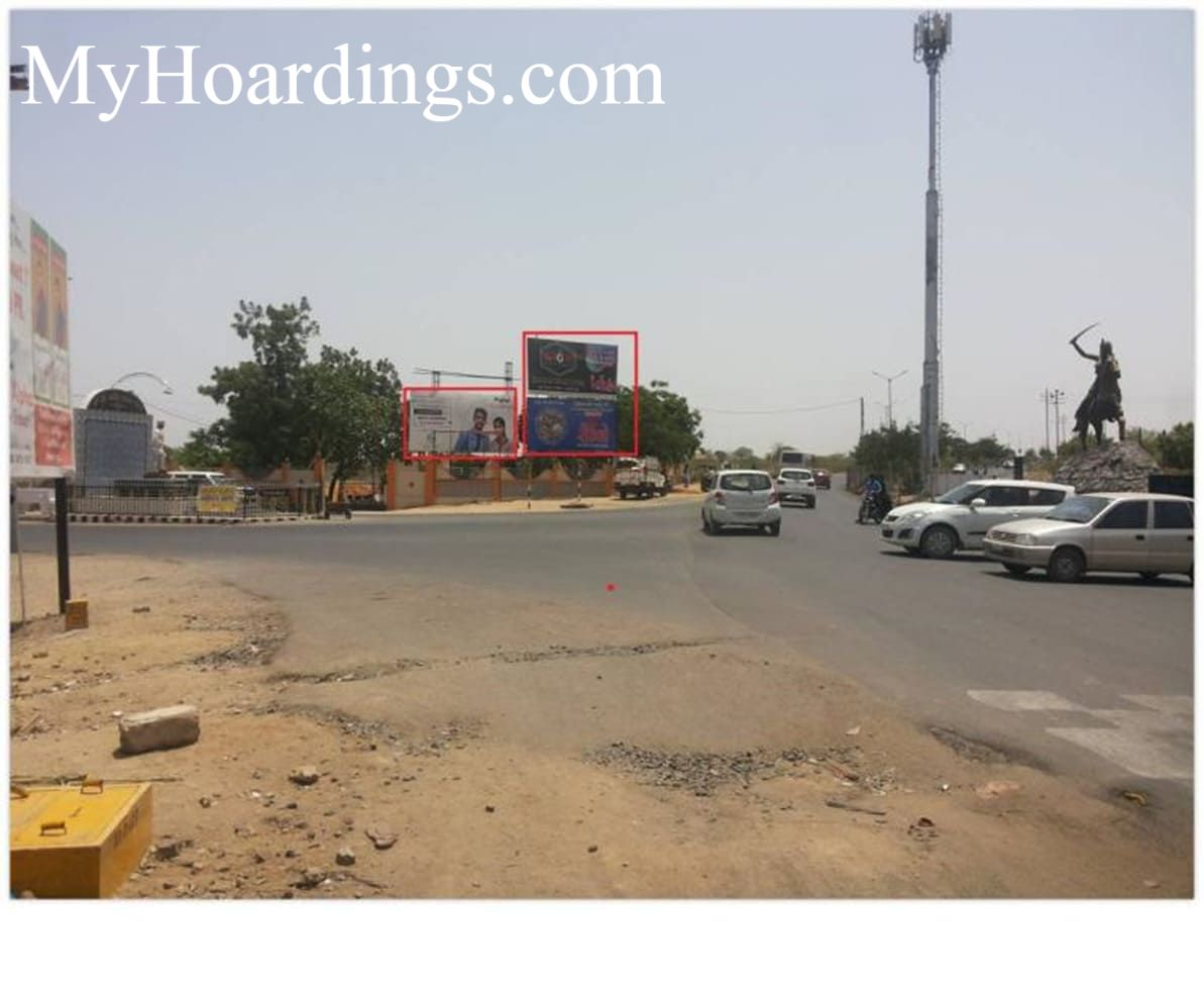 OOH Billboard Agency in India, Hoardings advertising in Bhuj, Unipole Agency in Jansi Rani Circle in Bhuj