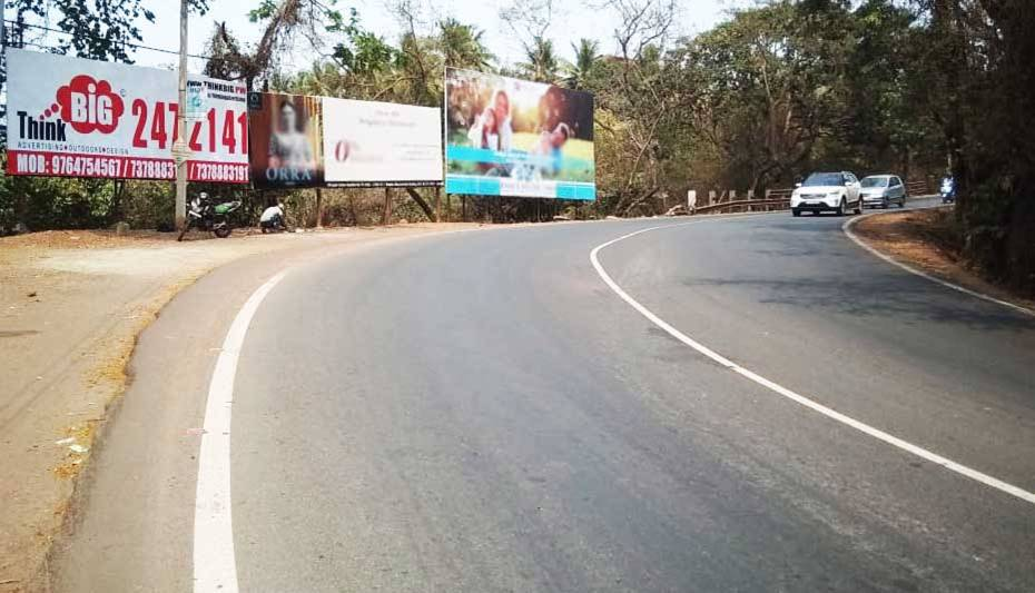 OOH Hoardings Agency in India, Highway Unipole Advertising in Goa, Hoardings Agency Margao Exit in Goa