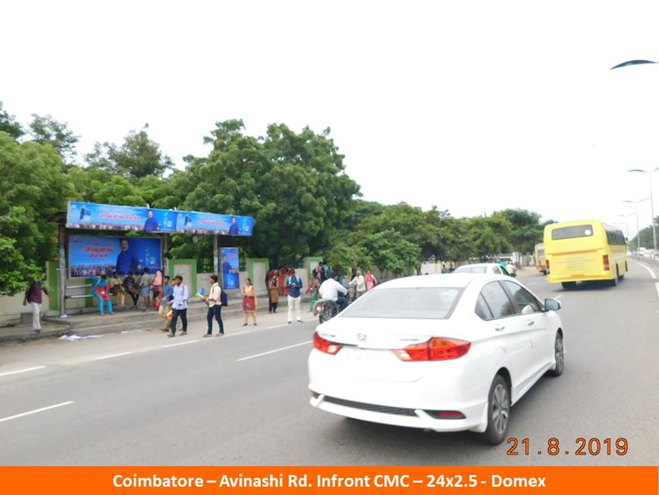 Best OOH Ad Agency in Coimbatore, Bus Shelter Hoardings Rates in Avinashi Road Medical College Coimbatore
