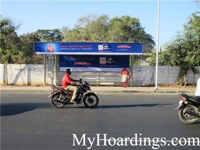 Hoardings Advertising Agency, BQS Advertising rates at Butt Road, St Thomas mount bus stop 2 Chennai TN