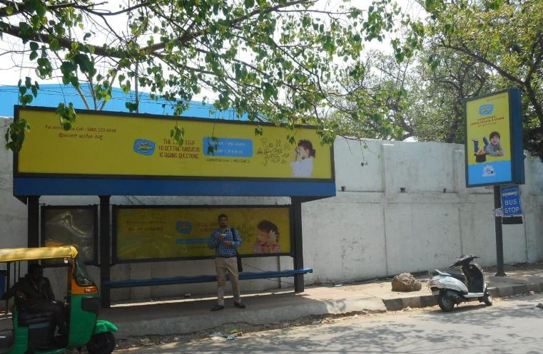 Best OOH Ad agency in Bengaluru, Bus Shelter Advertising Company at HAL Bus Stop in Bengaluru