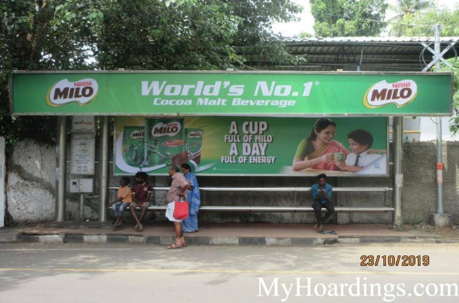 Best OOH Ad Agency in Chennai, Bus Shelter Hoardings Rates in Hotel Adyar Gate Bus Stop Chennai
