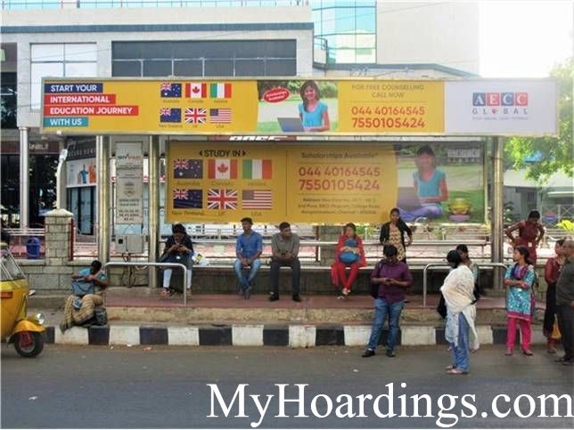 Isphani Centre Bus Stop advertising, Advertising Company Chennai, Flex Banner in Chennai