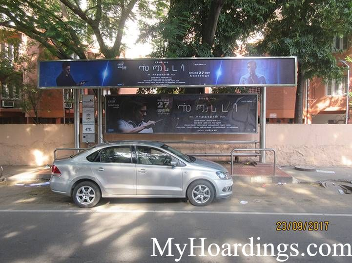 How to Book Hoardings in Chennai, Best Advertise company on Mahalingapuram Bus Stop in Chennai
