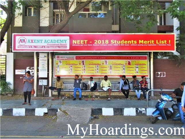 Hoardings Advertising in Chennai, Bus Stop Ads Agency in Anna Nagar West Depot Bus Stop in Chennai