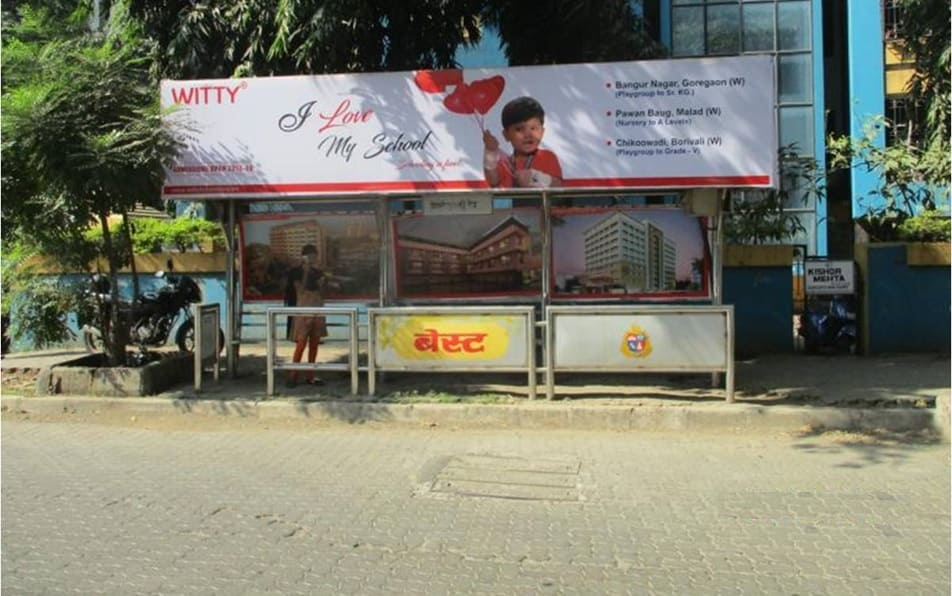 Hoardings Advertising in Mumbai, Bus Stop Ads Agency in Borivali West Bus Stop in Mumbai