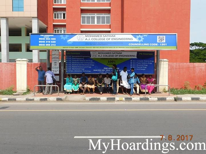 Hoardings Advertising Agency, BQS Advertising rates at Brilla Planitorium Opp Bus Stop Chennai TN
