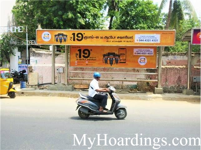 Advertising rates on  Ega Theatre Bus Stop 1 Chennai, Flex Banner Rates in TN