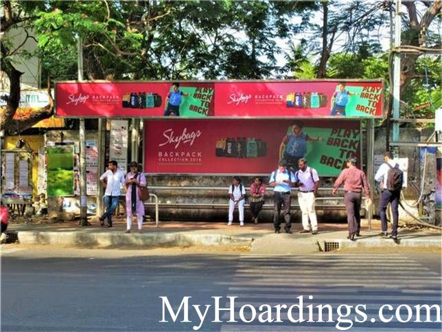 Best OOH Ad agency in Chennai, Bus Shelter Hoardings Rates in Hotel  Ganapath Bus Stop 2 Chennai