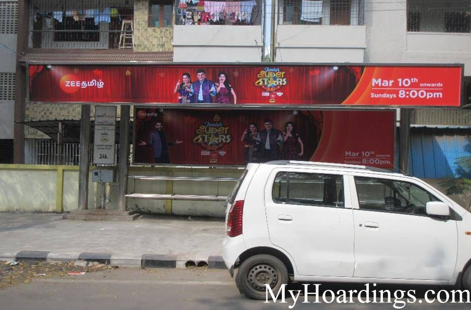 Best OOH Ad Agency in Chennai, Bus Shelter Hoardings Rates in Kavery Nagar Bus Stop Chennai