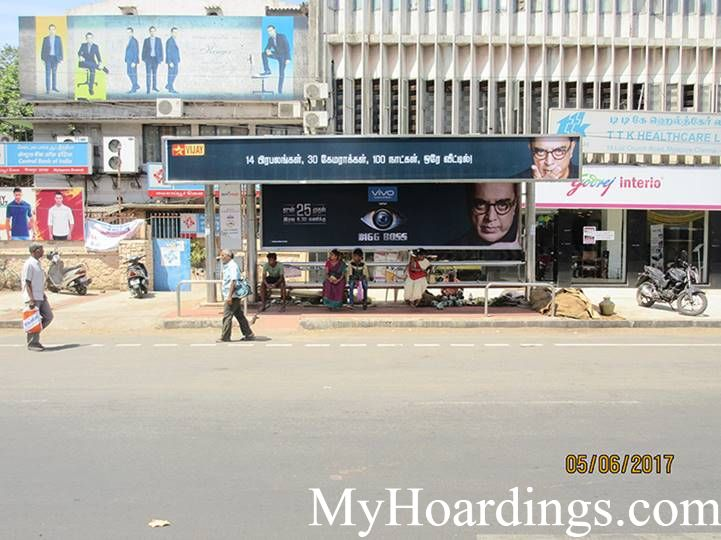 Outdoor Media Agency Chennai, Hoardings Advertising company Chennai, Bus Shelters in Chennai, Tamil Nadu