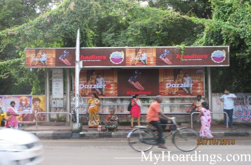 Cost of Bus Shelter Advertising at Avin Bus Stop in Chennai, Outdoor Media Agency Chennai, Tamil Nadu