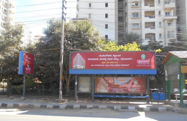 Cost of Bus Shelter Advertising at Bellandur Bus Stop in Bangalore, Outdoor Media Agency Bangalore, Karnataka