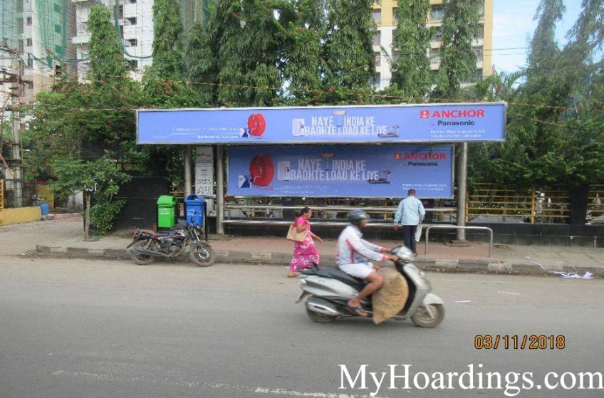 Best OOH Ad agency in Chennai, Bus Shelter Advertising Company at Hotel Breeze bus stop in Chennai