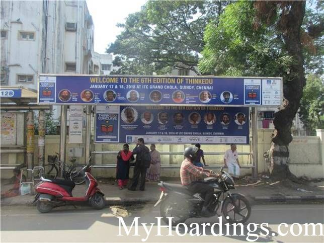 Hoardings Advertising in Chennai, Bus Stop Ads Agency in Kuchery Bus Stop in Chennai