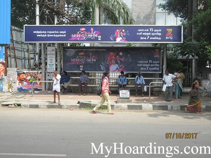 Advertising rates on Meenakshi College Bus Stop Chennai, Flex Banner Rates in TN