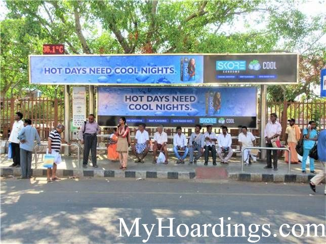 Mylapore Tank  Bus Stop 1 advertising, Advertising Company Chennai, Flex Banner in Chennai