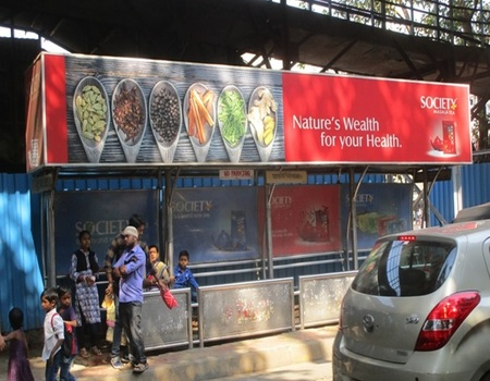 Cost of Bus Shelter Advertising at Saibaba Nagar Bus Stop in Mumbai, Outdoor Media Agency Mumbai, Maharashtra