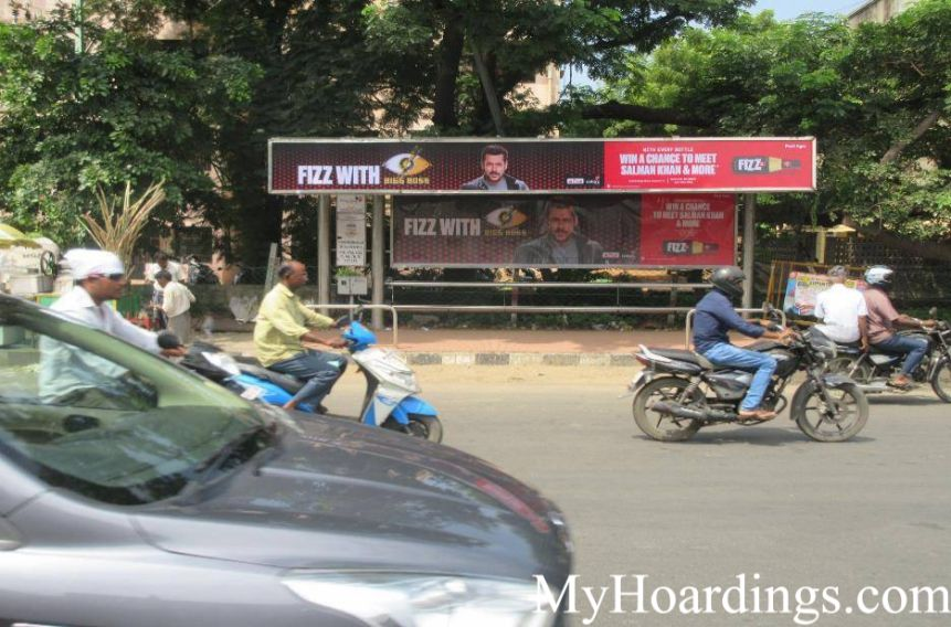 Bus Shelter agency at Thirumangalam Bus Stop in Chennai, Best Outdoor Advertising Company Chennai, Tamil Nadu