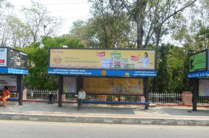 Book Bus Shelter Advertising Online in Bangalore, Hoardings Company Bangalore, Media Buying, Media Planning, Ad Agency