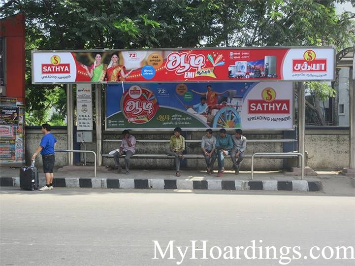 How to Book Hoardings in Chennai, Best Advertise company on YWCA  Bus Stop 1 in Chennai
