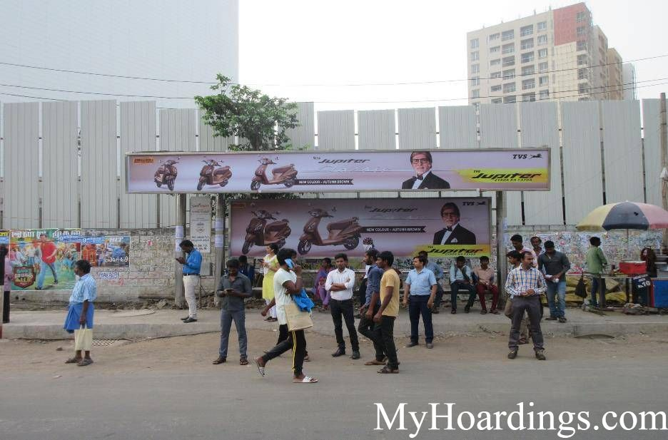 How to Book Bus Queue Shelter Hoardings Advertising TVS Lucas Opp Bus Stop in Chennai, Tamil Nadu
