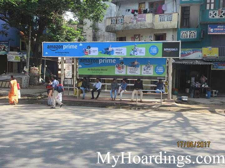 Hoardings Advertising in Chennai, Bus Stop Ads Agency in Collector Nagar Opp Bus Stop in Chennai