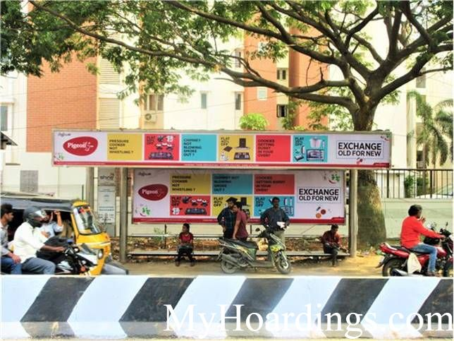 Hoardings Advertising Agency, BQS Advertising rates at Kesavarthini Bus Stop Chennai TN
