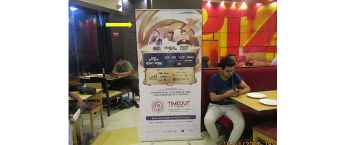 Branding in Bangalore CCD outlets. Bengaluru Café Coffee Day Standee Advertisement
