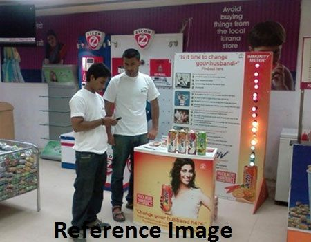 Advertising in City Centre Mall, Mangalore, Kanpur
