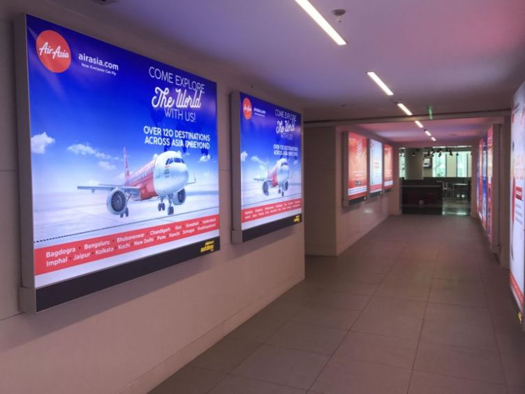 Ambient media advertising in DLF Place, Delhi