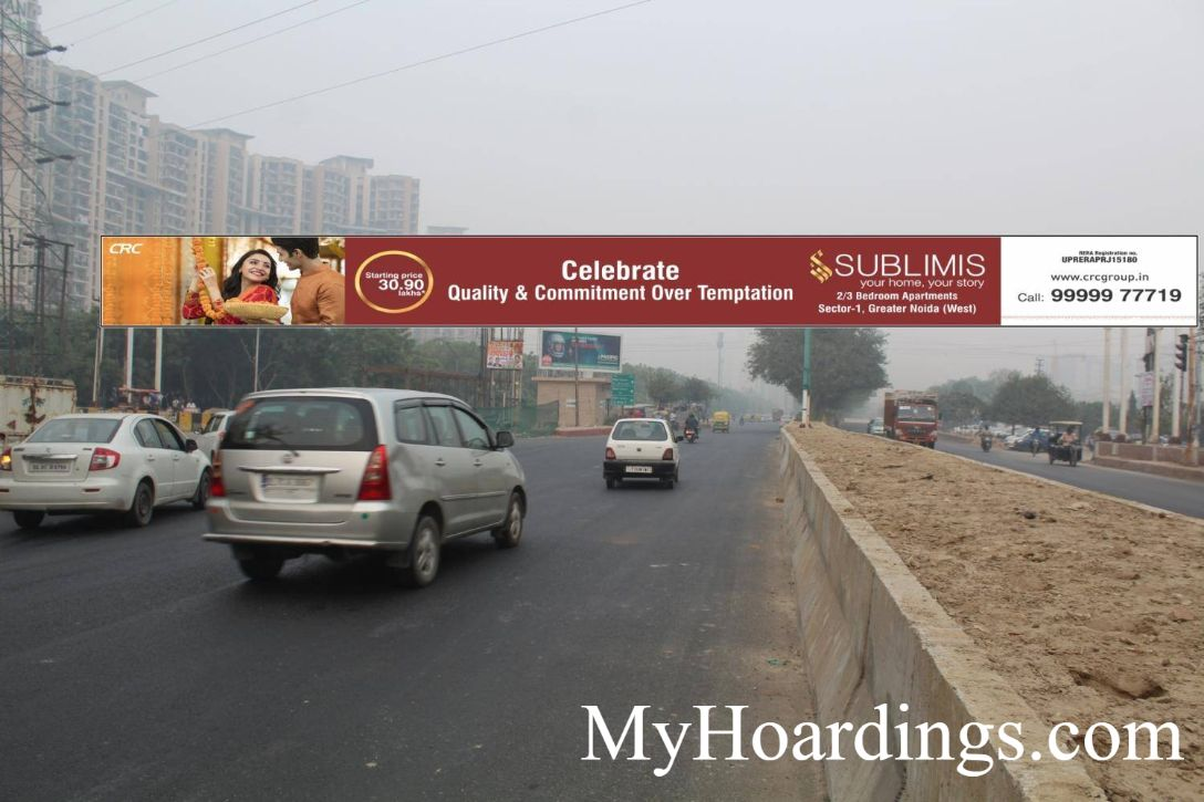 OOH Billboard Agency in India, Hoardings Advertising in Balak Nath Mandir Sector-71 Near OIDB Noida