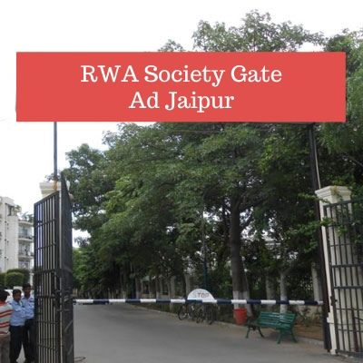 How to advertise in RWA Fountail Square Apartments Apartments Gate? RWA Apartment Advertising Agency in Jaipur