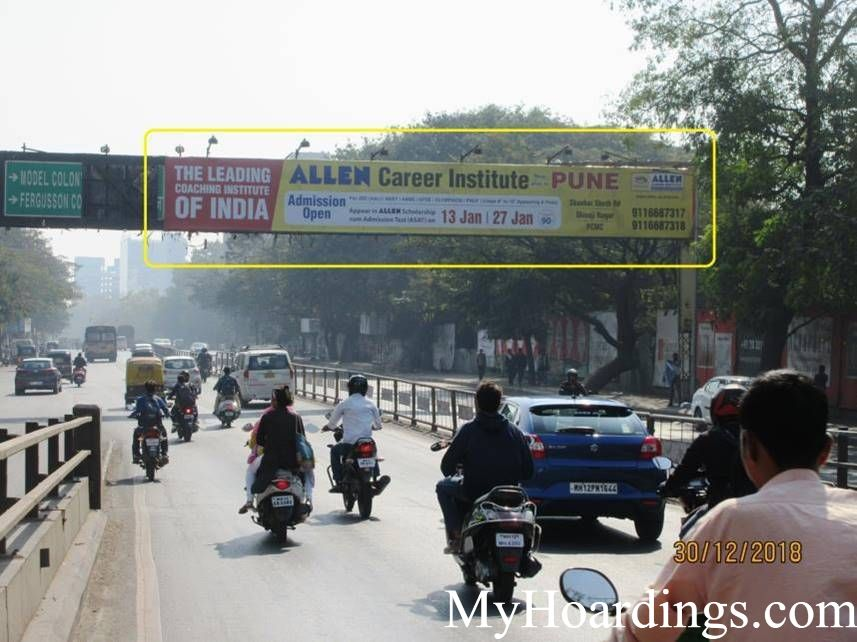 Outdoor Advertisement Gantry in University Road Near E square in Pune, Best outdoor advertising company Pune
