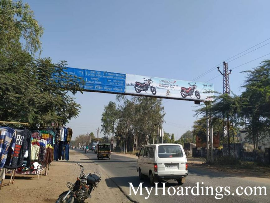 Outdoor Media Promotion advertising in Banswara, Gantry Agency in BN1A Old Bus Stand Banswara, Flex Banner
