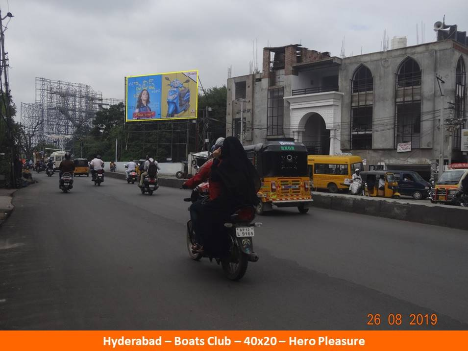 Hoardings Agency at Boats Club Near Marriot Hotel in Hyderabad, Outdoor Media Agency Hyderabad
