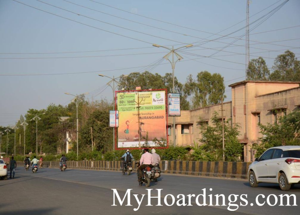 How to Book Hoardings in Chelipura High School Jai Tower To Osmanpura Road in Aurangabad, Best Outdoor Hoardings Advertising Agency Aurangabad