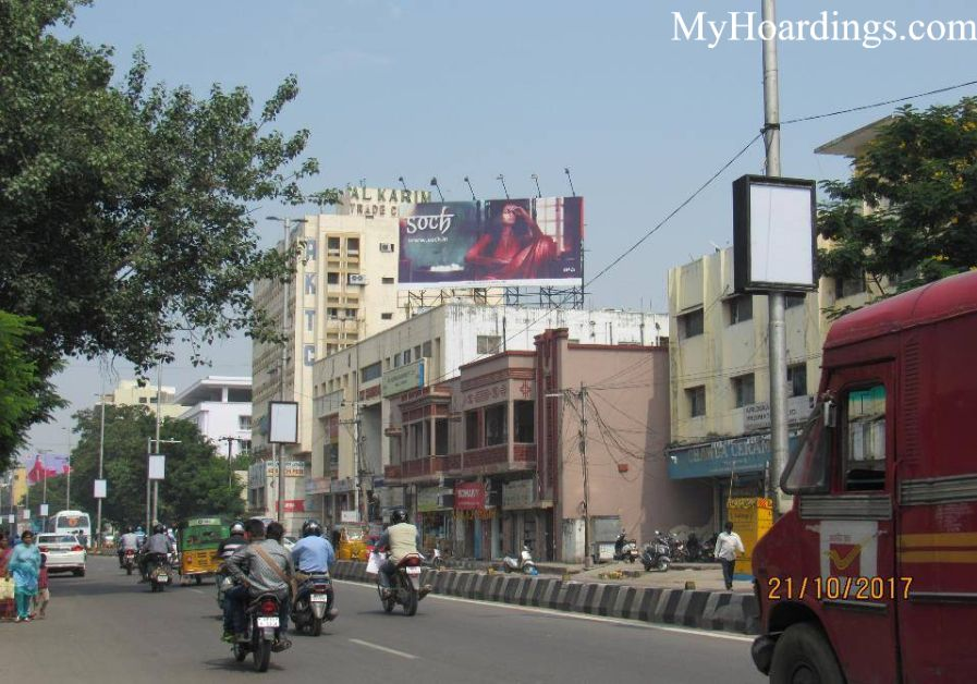 Hoardings M G Road Sundaram Honda in Hyderabad, Outdoor Media Agency Hyderabad