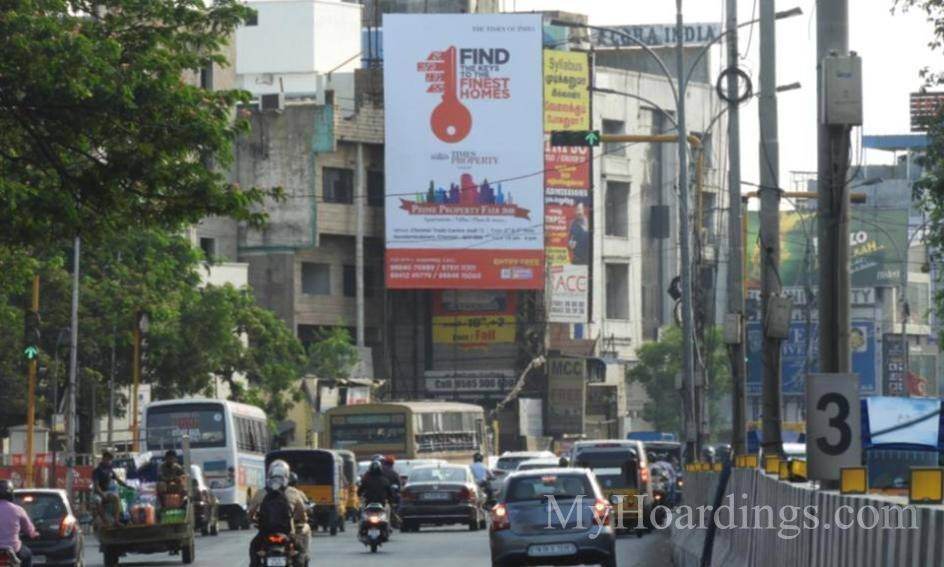 Hoardings Mount Road Nandanam in Chennai, Outdoor Media Agency Chennai